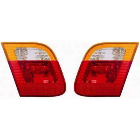 02-05 BMW 3 Series Sdn Inner Taillight w/Amber PAIR