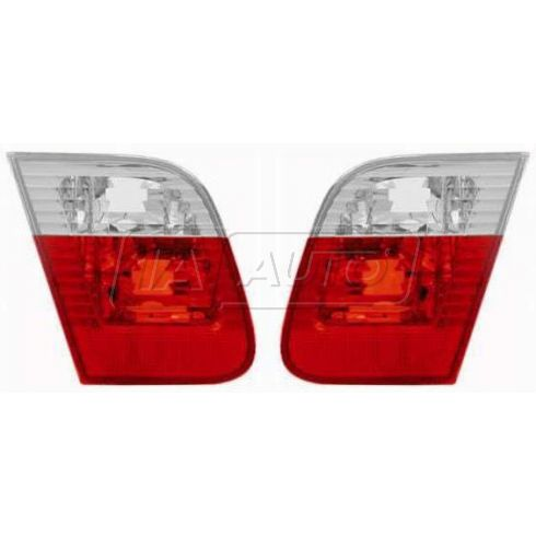02-05 BMW 3 Series Sdn Inner Taillight w/Clear PAIR