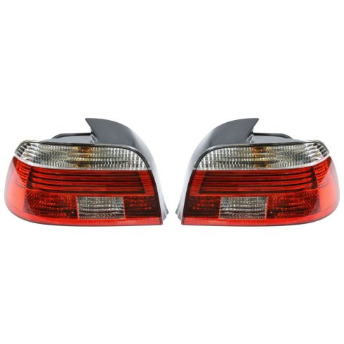 01-03 BMW 525i, 540i Sedan; 01-03 530i, M5 w/Clear Lens Taillight PAIR