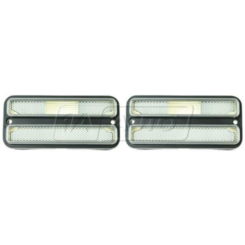 69-72 Blazer Jimmy; 70-72 GM PU; 71-84 Van Side Marker Light w/Chrome Trim PAIR