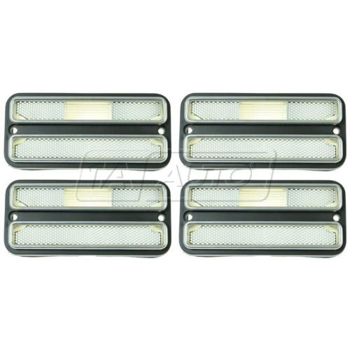 69-72 Blazer Jimmy; 70-72 GM PU; 71-84 Van Side Marker Light w/Chrome Trim Set of 4