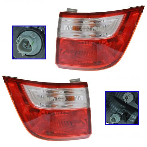 11-12 Honda Odyssey Outer Taillight PAIR