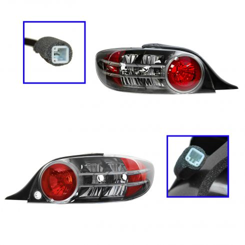 04-05 Mazda RX-8; 06 (to 3/1/06) RX-8 (exc Shinka Model) Taillight Lens & Hsg PAIR (OE)