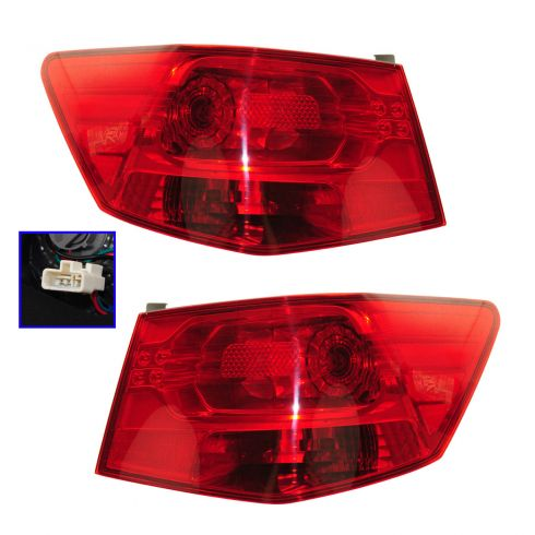 10-13 Kia Forte Sedan Outer Taillight PAIR