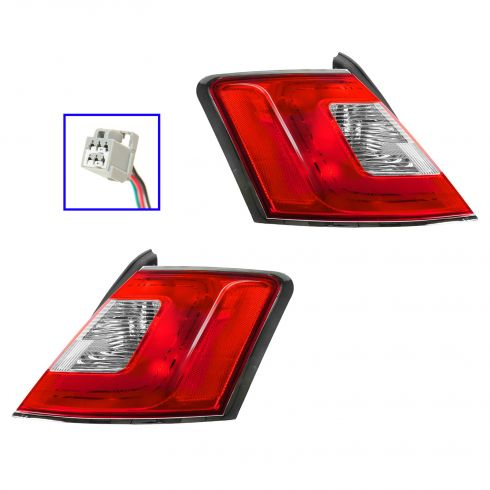 10-12 Ford Taurus Outer Taillight w/Chrome Trim PAIR