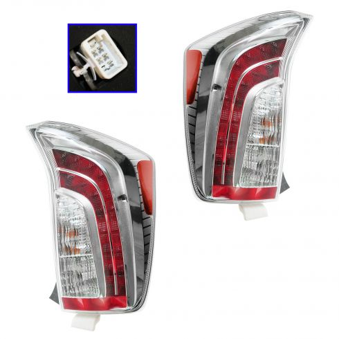 12-13 Toyota Prius Htchback (7 & 8 Vin DU) Taillight PAIR