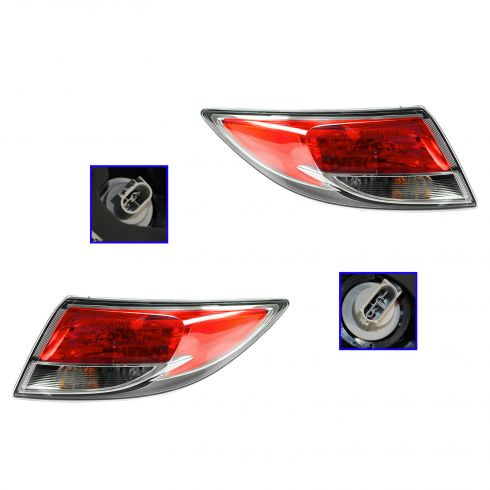 09-13 Mazda 6 Bulb Type (Non LED) Outer Taillight PAIR