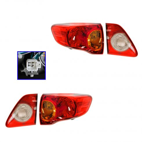 09-10 Toyota Corolla (Japan Built) Inner & Taillight/Reverse SET of 4