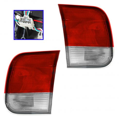 96-98 Honda Civic Sedan Reverse / Inner Taillight PAIR