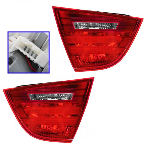09-11 BMW 323i, 328i, 335D, 335i, M3 Sedan (Trunk Lid Mtd) Inner Taillight PAIR