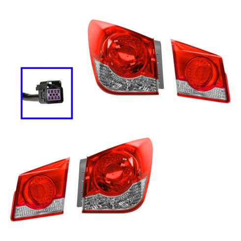 11-13 Chevy Cruze Inner & Outer Taillight SET of 4