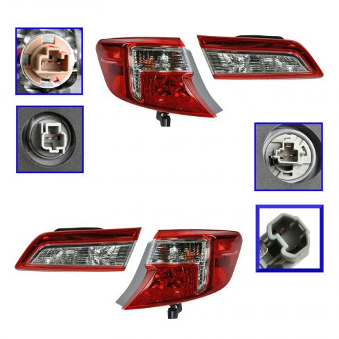 12 Toyota Camry, Camry Hybrid Inner & Outer Taillight SET of 4