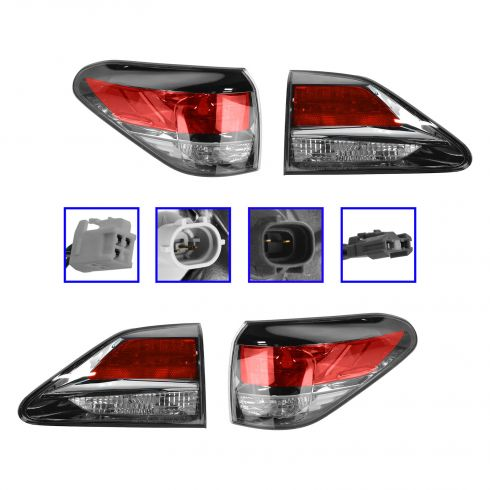 13-14 Lexus RX350, RX450H (Canadian Built) Inner & Outer Taillight Set of 4