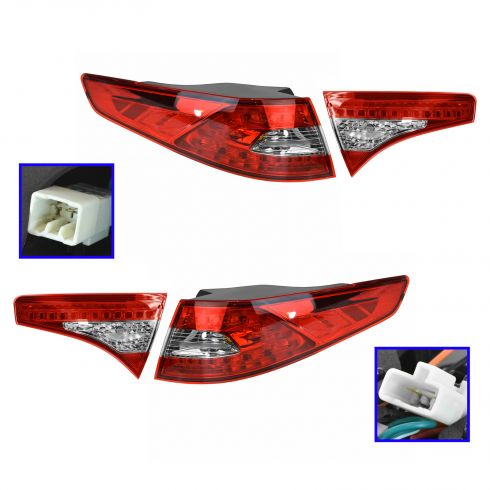 11-13 Kia Optima SX; 13 Optima EX, SXL LED Inner & Outer Taillight SET
