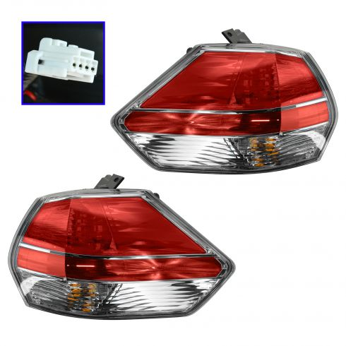 2014 Nissan Rogue Tail Light Pair