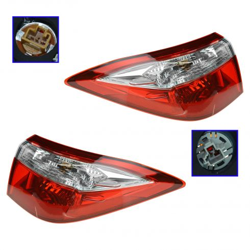 2014 Toyota Corolla Tail Light Pair
