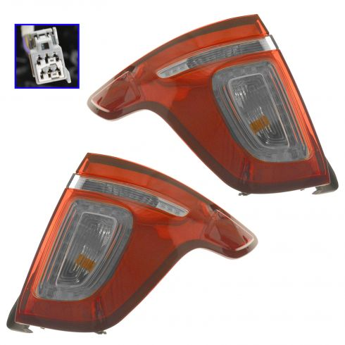 11-15 Ford Explorer (exc. Police Package) Red Lens Taillight PAIR