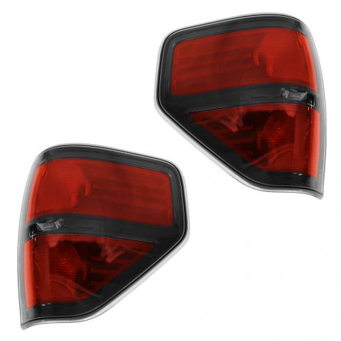 09-14 Ford F150 SVT Raptor Black Bezel Taillight PAIR (Ford)