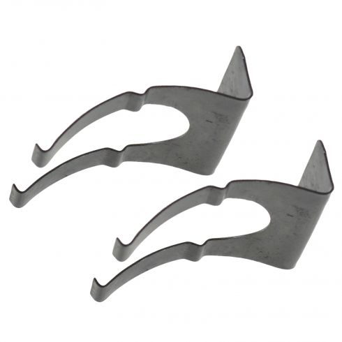 88-02 GM C/K PU; 92-00 FS SUV; 82-93 S10, S15 PU License Plate Lght Metal Retainer Clip Pair (GM)