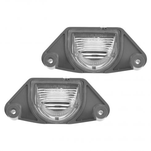 82-89 Buick; 84-13 Chevy 82-05 Pontiac Multifit License Plate Light Lens Pair (GM)