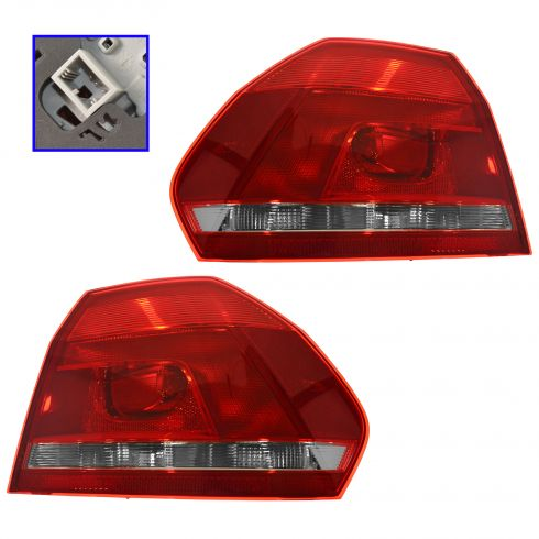12-16 Volkswagen Passat (1/4 Panel Mounted) Outer Taillight Assy PAIR (VW)