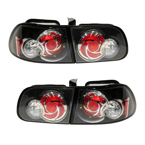 93-95 Honda Civic Hatchback Performance Tail Lamp Inner & Outer Set