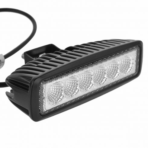 6 Inch - Rectangular (18 Watt) Auxillary Flood Beam 6 LED Offroad Work Light