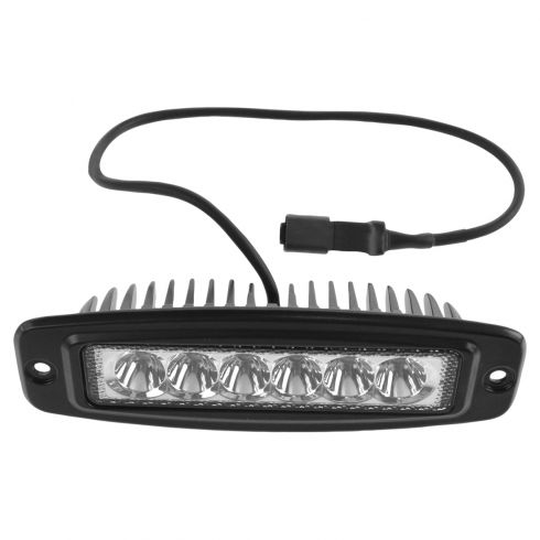 6 Inch - Rectangular (18 Watt) Auxillary Spot Beam 6 LED Flush Mount Offroad Work Light