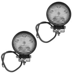 4 Inch - Round (18 Watt) Spot Beam 6 LED Offroad Work Light Pair