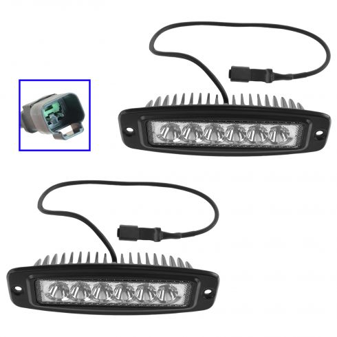 6 Inch - Rectangular (18 Watt) Spot Beam 6 LED Flush Mount Offroad Work Light PA