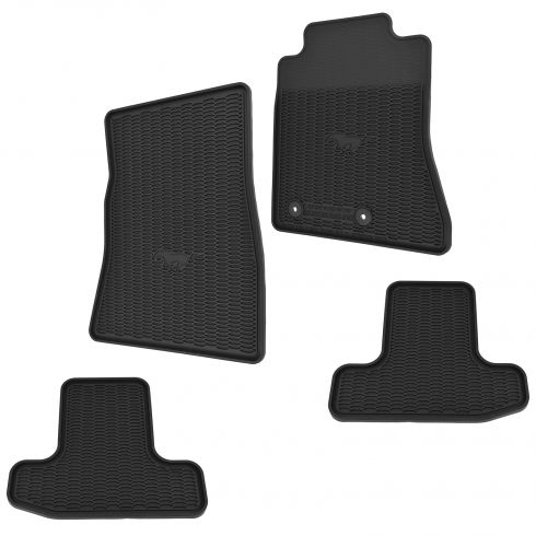 2015 Ford Mustang All Weather Molded Vinyl (w/Horse Logo) Contour Floor Mats (Set of 4) (Ford)