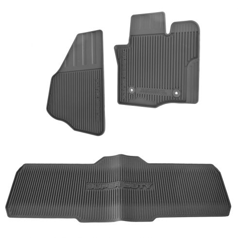 11-15 F250SD-F450SD Crew Cab Molded Black Rubber