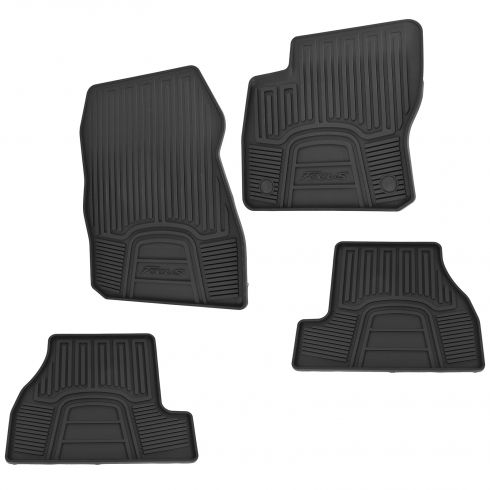 12-14 Focus Front & Rear Molded Black Rubber