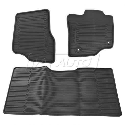 15-16 F150 Crew Cab Molded Black Rubber