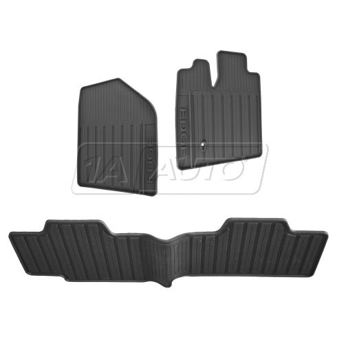 07-10 Ford Edge Frt & Rear Molded Black Rubber