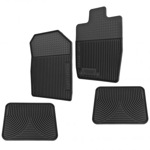 10-12 Ford Fusion Front & Rear Molded Black Rubber