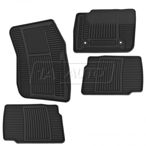 13-15 Ford Fusion Front & Rear Molded Black Rubber