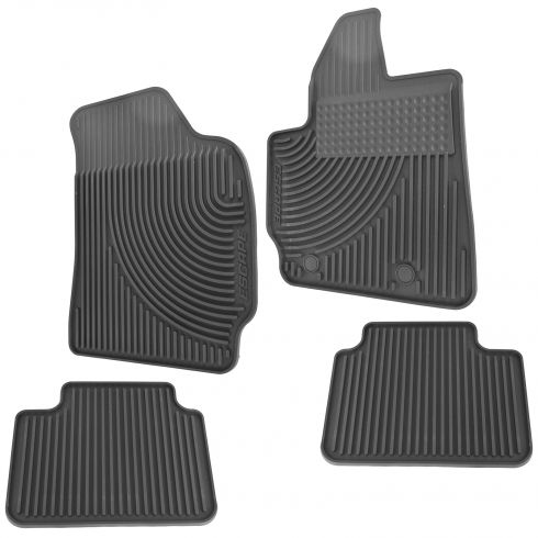 11-12 Ford Escape Molded Black Rubber ~Escape~ Logoed All Weather Floor Mat Kit (Set of 4) (Ford)