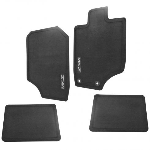 10-12 Lincoln MKZ Embroidered ~MKZ~ Black Carpeted Floor Mat Kit (Set of 4) (Ford)
