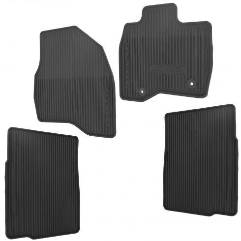 15-16 Ford Explorer Molded Black Rubber ~Explorer~ Logoed All Weather Floor Mat Kit (Set of 4) (FD)