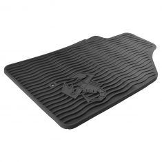 13-16 Fiat 500 Abarth Molded Black Rubber ~Scorpion~ Logoed Front Floor Mat PAIR (Fiat)
