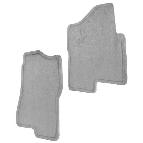 04-06 Suburban, Tahoe, Yukon, Yukon XL Medium Dark Pewter Front Carpeted Floor Mat PAIR (GM)