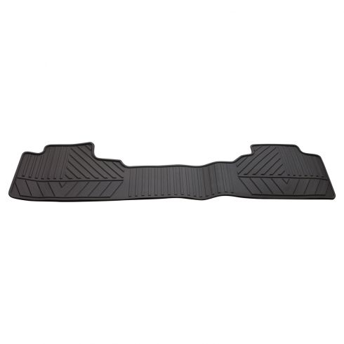 14-15 Silverado, Sierra 1500; 15 2500, 3500 Mld Cocoa Rubber Rear Premium All Weather Floor Mat (GM)