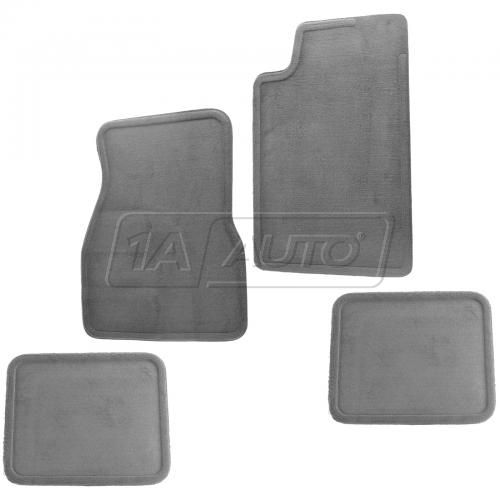 98-02 Chevy Camaro, Pontiac Firebird Front & Rear Dark Gray Carpeted Floor Mat Kit (Set of 4) (GM)