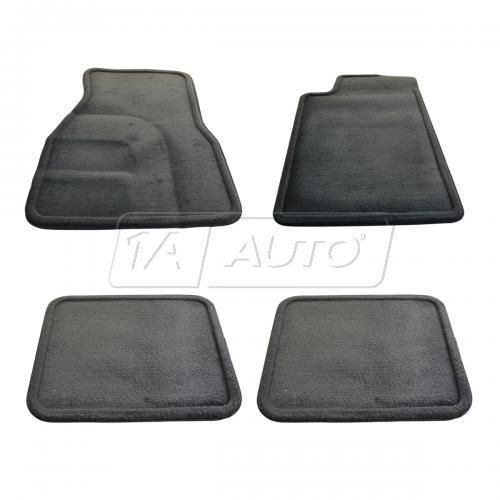 98-02 Chevy Camaro, Pontiac Firebird Front & Rear Black Carpeted Floor Mat Kit (Set of 4) (GM)