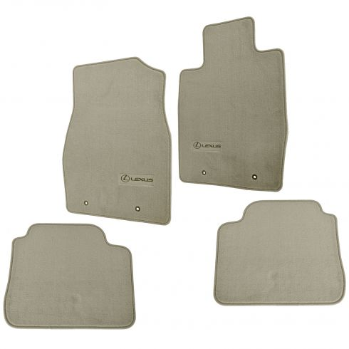 02-06 Lexus ES300, ES330 Embroidered ~Lexus~ Ivory Carpeted Floor Mat Kit (Set of 4) (Lexus)