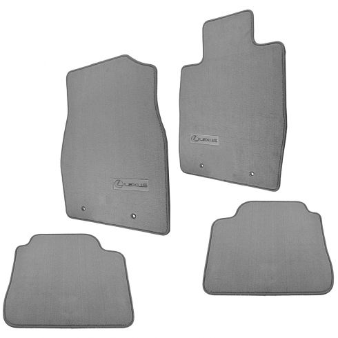 02-03 Lexus ES300; 04-06 ES330 Embroidered ~Lexus~ Gray Carpeted Floor Mat Kit (Set of 4) (Lexus)