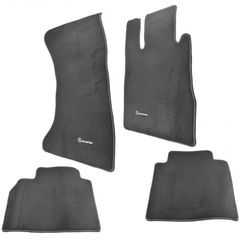 03-06 MB S430, S500 4-Matic Embroiderd ~Mercedes Benz~ Black Carpeted Floor Mat Kit (Set of 4) (MB)