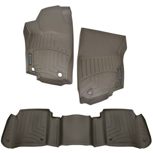 12-16 ML350, ML550, ML63 AMG ~Mercedes Benz~ Logoed Mocha Brown Floor Tray Liner Kit (Set of 3) (MB)