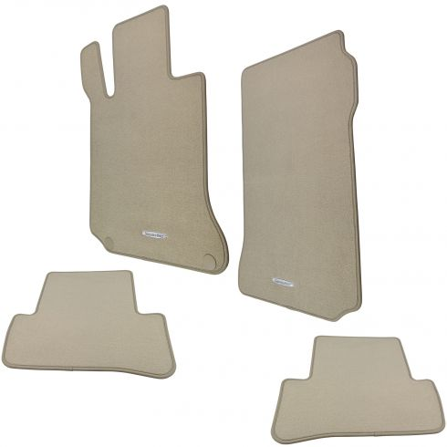 08-12 MB C-CLass  ~Mercedes Benz~ Logoed Cashmere Carpeted Floor Mat Kit (Set of 4) (MB)